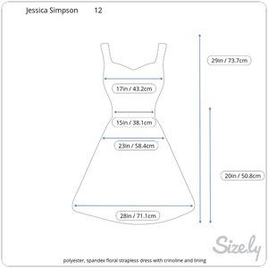 Jessica Simpson Dresses - Jessica Simpson Floral Strapless Pleated Dress